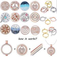 Living Memory Floating Charm DIY Gift MY Coin Handmade Locket Necklace Xmas