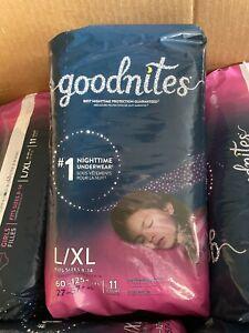 Goodnites Nighttime Underwear Girls - 6 Pack/66 Count (L/XL - Size 8-14)
