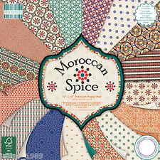First Edition 12x12 papel-marroquí Spice-paquete completo de recortes y tarjetas