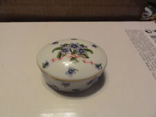 Lenox Trinket Box African Violets Floral Design - Beautiful