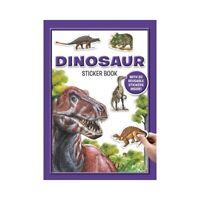 Dinosaurs Reusable Sticker Book & Facts Book Fun Activities Kids Toys