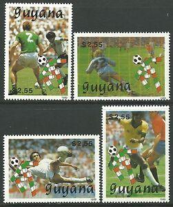 Guyana 1989 - Sports World Cup Soccer Championships Italy 90 - Sc 2220/3 MNH