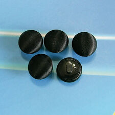 20 Vintage Satin Fabric Covered Handmade Clothes Dome Buttons 12.5mm Black G140S