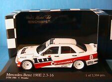 MERCEDES 190E 2.3 16V #8 DTM 1986 TEAM MARKO RSM WEIDLER MINICHAMPS 400863508