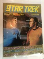 Vintage 1977 Star Trek Giant Poster Book Spock Captain Kirk Voyage 9
