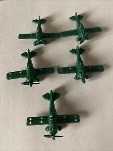 BOARD GAME PART Vintage MILTON BRADLEY DOGFIGHT LOT 5 GREEN PLANES WW1