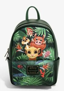 Loungefly Disney The Lion King Tropical Trio Mini Backpack NWT