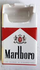 Marlboro Ceramic Ashtray Marlboro Red Cigarettes Pack Shape Advertise New Boxed