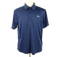 Fila Men Polo Shirt Size Large Navy Short Sleeve Athletic Golf