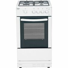 Bush AG56S Free Standing 50cm 4 Hob Single Gas Cooker - White.