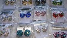 JOBLOT de 24 pares Mezclado Color Diamante Aretes-nuevos al por mayor