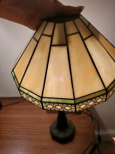 Tiffany-Style Lampshade Wall Sconce Stained Glass 1-Light Wall Lamp