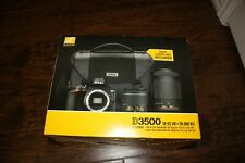 Brand New NIKON D3500 DSLR Camera 18-55VR 70-300mm & Camera Bag Bundle
