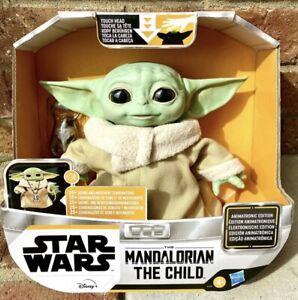 Star Wars The Mandalorian The Child Talking Animatronic Figure Baby Yoda In Hand