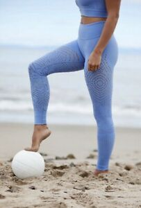 Free People Movement Legging Self Hem Ecology Breathable Periwinkle Blue XS NEW