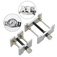 Useful 2 Seats Watch Movement Clip Holder Base Watchmakers Case Vice Repair Tool