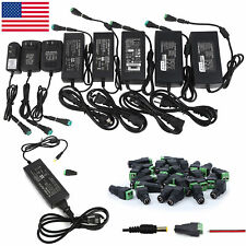US 12V 1/2/3/5/6/8/10A Power Supply AC to DC Adapter for 5050 3528 RGB LED Strip