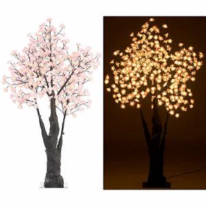 Luminea LED-Deko-Kirschbaum, 384 beleuchtete Blüten, 150 cm, für innen & außen