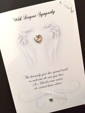 Hand-Made Personalised  'Angel' Sympathy Card