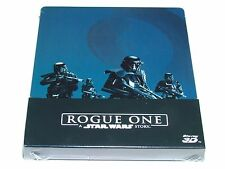 ROGUE ONE A STAR WARS STORY 3D+2D BLU-RAY STEELBOOK IMPORT BRAND NEW RARE!