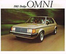 1983 DODGE {Canada} OMNI Brochure / Flyer: Custom, Canadian.......NOS