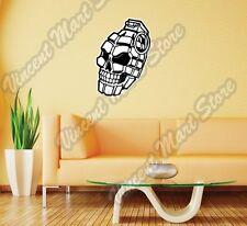 """Hand Grenade Skull Army Soldier Wall Sticker Room Interior Decor 18""""X25"""""""