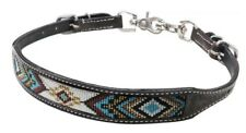 Showman DARK CHOCOLATE Argentina Cow Leather Wither Strap w/ Beaded Inlay!! NEW!