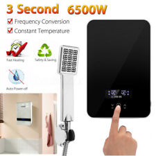 Instant Hot Water Heater Electric Tankless On Demand House Shower Sink 6500W