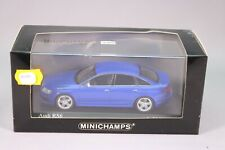 ZE248 MINICHAMPS 1/43 AUDI RS6 BLUE METALLIC 2008 REF 400017200 EDL NB