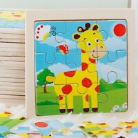 Intelligence Kids Toy Wooden 3D Puzzle For Children Educational Learning Toys