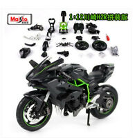 Maisto 1:12 Kawasaki Ninja H2R Assembly line Kit Motorcycle Model Black