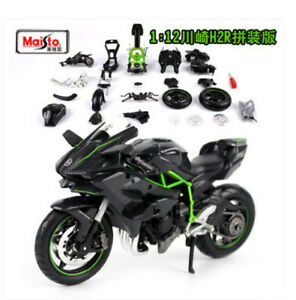 Maisto 1:12 Kawasaki Ninja H2R Assembly line Kit Motorcycle Model Black