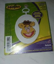 Janlynn The Muppets Fozzie Bear Counted Cross Stitch Kit Frame Included Rare Mip
