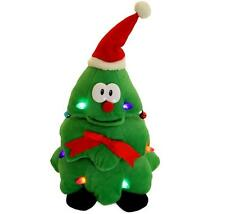 Rockin Around Christmas Tree Plush Toy Singing Dancing Light Up Holiday Gift NEW