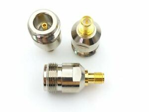 PureTek Tipo N Hembra A SMA Hembra (Macho Patillas) Adaptador Conector Unión