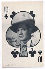 "Charles Starrett Penny Arcade Vending Machine Playing Card 3 3/8"" x 5 3/8"" 1950s"