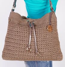 THE SAK Medium Tan  Knitted  Shoulder Hobo Tote Satchel Purse Bag