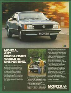 OPEL MONZA      1979 Vintage Car Print Ad