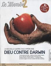 Le Monde 2   N°86   8 Octobre 2005: Dieu contre darwin Sidi larbi cherkaoui Nouv