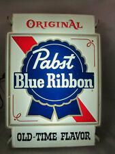 Vintage Pabst Blue Ribbon Beer PBR bar tavern window light sign display