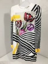 MARY KATRANTZOU WOMEN'S CHRISTI TULIP STRIPE SHIFT DRESS MULTI UK:10/US:6 NWT