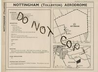 NOTTINGHAM AIRPORT AERODROME MAP 1938