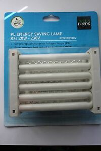 3 x Greenbrook 20w (100/150W) low energy PL CFL R7S J118 floodlight bulbs 2700k