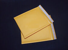 10X 160*220+40mm Kraft Bubble Bag Padded Envelopes Mailers Shipping Yellow@Tc