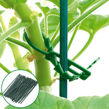 50Pcs Adjustable Garden Plastic Plant Ties Straps Cable Tree Climbing Support