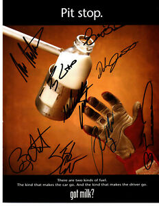NASCAR 2000 Got Milk? authentic autographed photo NO RESERVE