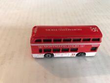 1999 Maisto Hasbro Tonka Tours Sightseeing Red Double-Decker Bus 35 NICE!!