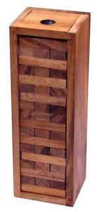 Wackel Turm Gr. XL 30 cm Höhe Condo Holzturm Geschicklichkeitsspiel aus Holz