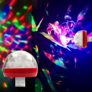 LED Car USB Atmosphere Light DJ RGB Mini Colorful Room Party Decor Bulb Disco