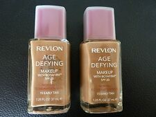 Revlon Age Defying Makeup/Foundation- EARLY TAN #15-NORMAL/COMBINATION-2 Bottles